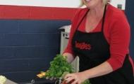 Ingles dietitian Leah McGrath introduces radishes.