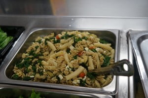 Farm to School Day JVE-pasta with local greens