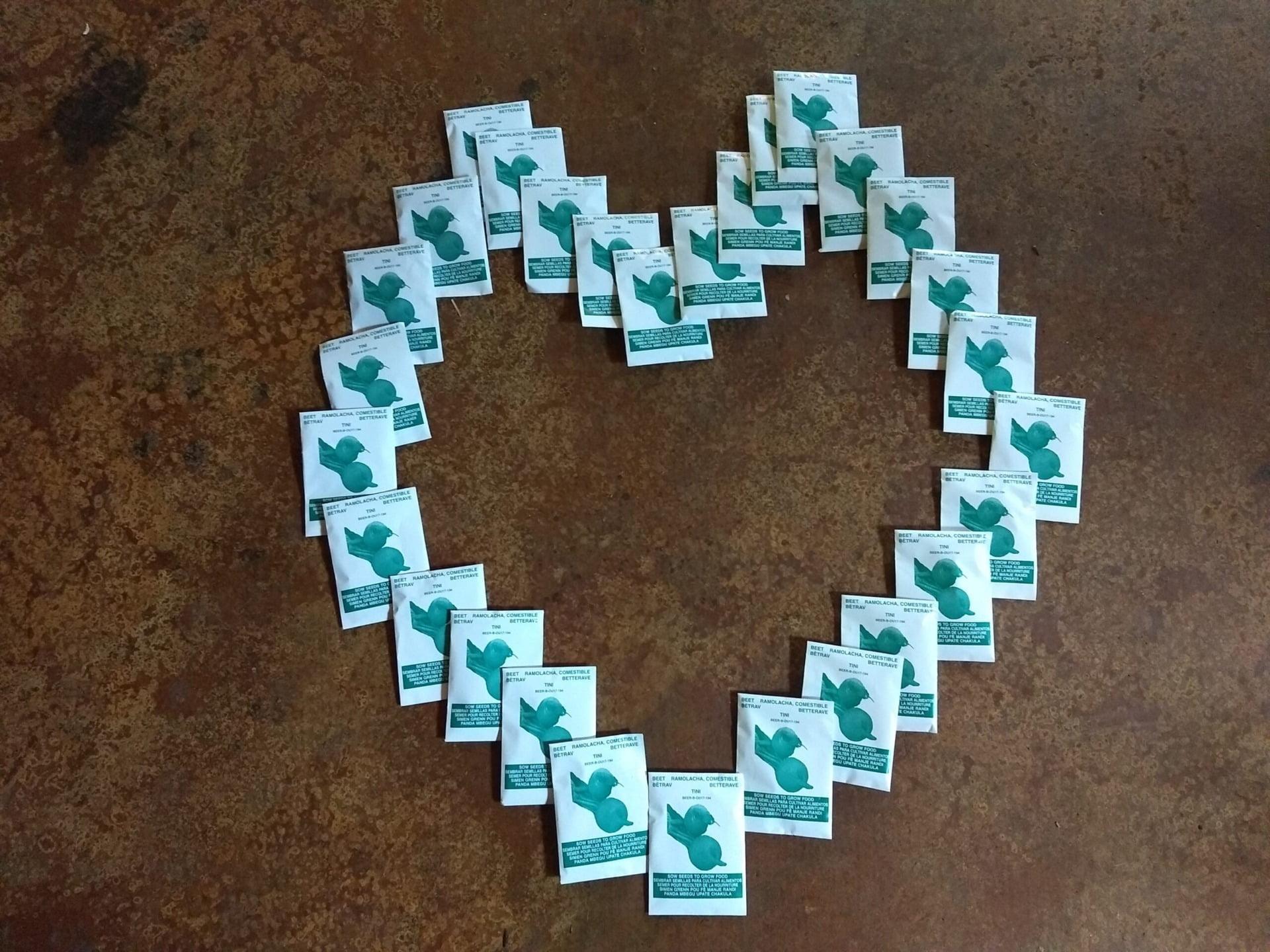 heart of tea bags